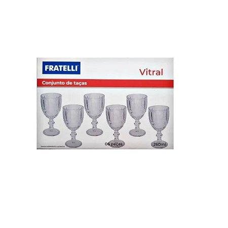 Conjunto 6 Taças Vitral 260ML - Fratelli