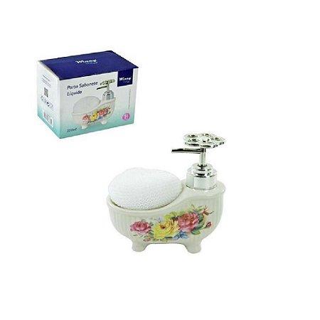 Porta Sabonete Liquido De Porcelana Banheira 250ml - Wincy