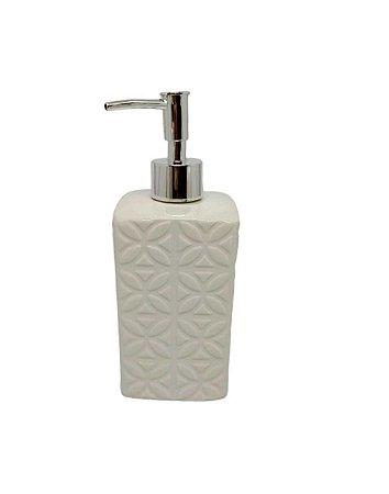 Porta Sabonete Líquido Mosaic Cerâmica 420 ml Wincy