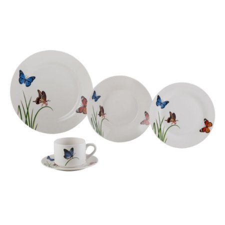 Aparelho de Jantar 20pc de Porcelana Butterflies Lyor