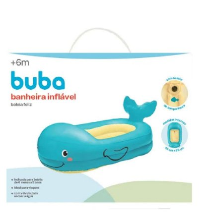 Banheira Inflável Baleia Feliz Buba