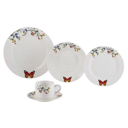 Aparelho de Jantar 20pc de Porcelana Delicate Lyor