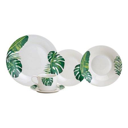 Aparelho de Jantar 20pc de Porcelana Tropical Lyor