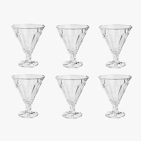 Cj 6 Taças de Vidro Renaissance 220ml