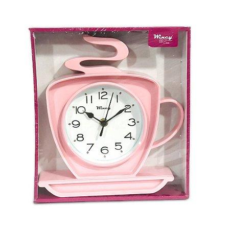 Relógio de Parede Xícara Wincy Rosa PDA01011