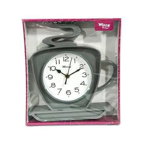 Relógio de Parede Xícara Wincy Cinza PDA01011