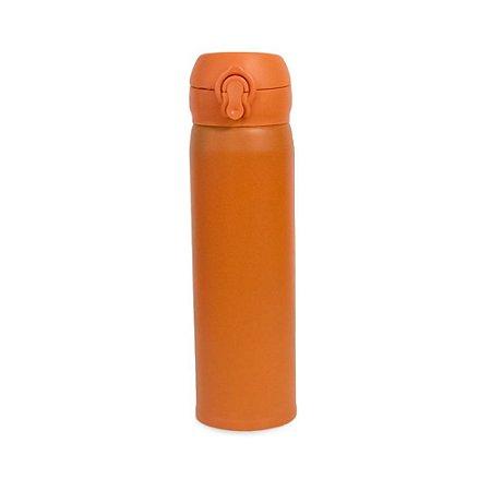 Garrafa Térmica Tampa Inox Laranja 450 ml Wincy IXB16004