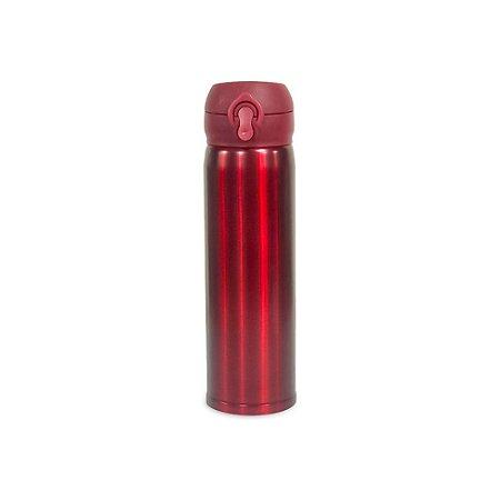 Garrafa Térmica Tampa Inox Vermelha 450 ml Wincy IXB16004