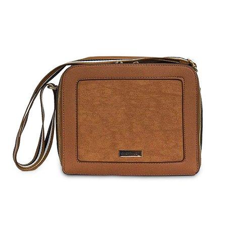 Bolsa Transversal Modern Alice Palucci - Caramelo AL13903CR