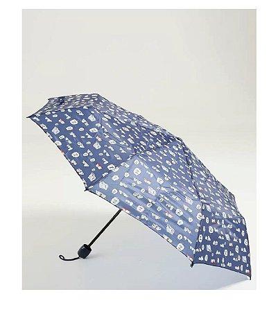 Guarda-chuva Mini Feminino Azul Snoopy SP3908