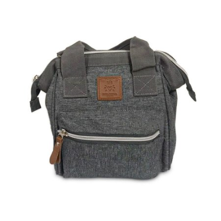 Bolsa Mommy Bag Pequena Cinza MM3264