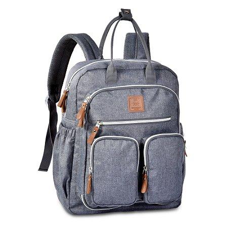 Mochila Mommy Bag Cinza MM3302