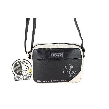 Bolsa Transversal Snoopy Preta SP12002PT