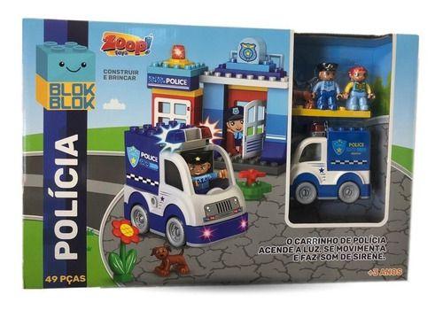 Blocos De Construção - Polícia - Zp00749 - Zoop Toys