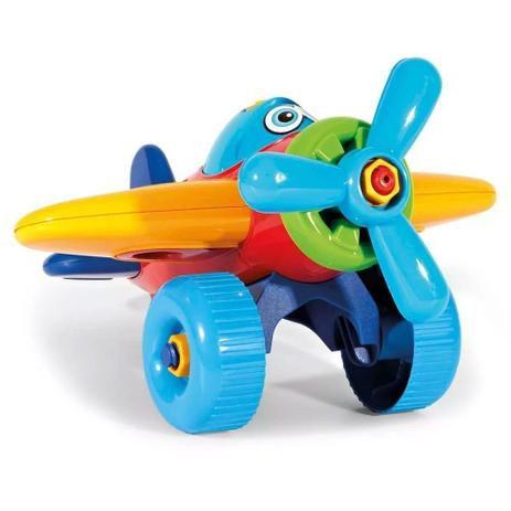Avião Colorido Didático - Poliplac