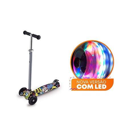 Patinete Scooter Zoop Toys com Led - Grafitado