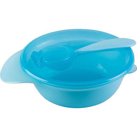 Bowl com tampa e colher - Azul