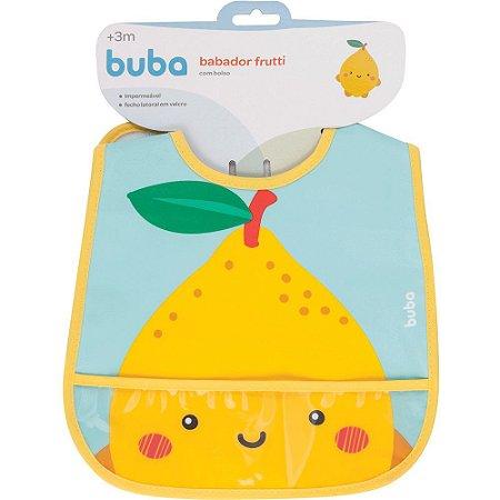Babador com bolso Frutti - Limão buba