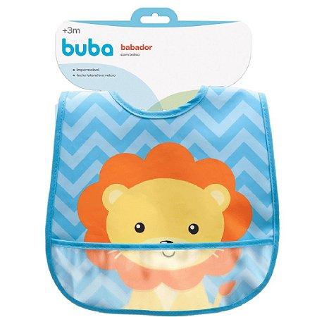 Babador com bolso Animal Fun - Leão buba