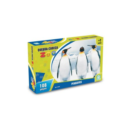 Quebra Cabeça Zoo Pinguins - Nig