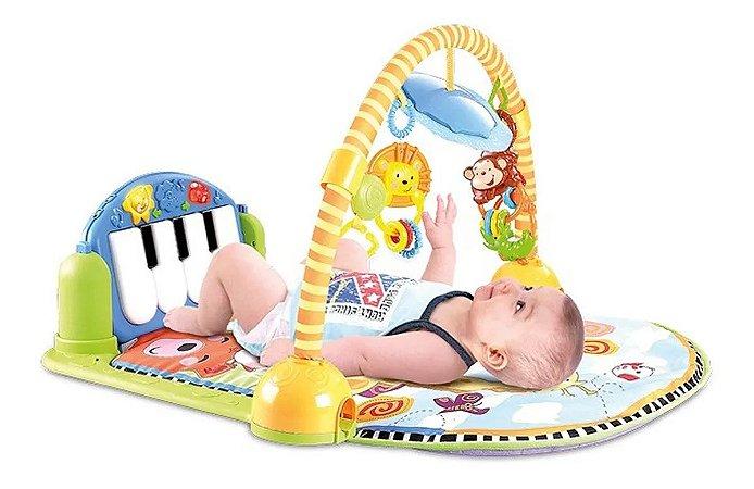 Tapete Estimulador De Bebê Musical Toca Piano C/ Luz Animais - ZOOP TOYS