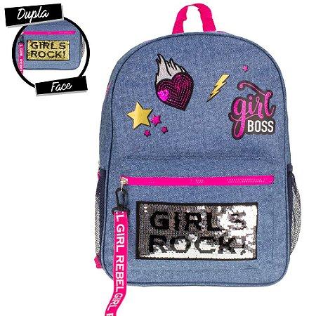 Mochila Juvenil Clio Jeans Girls Rock