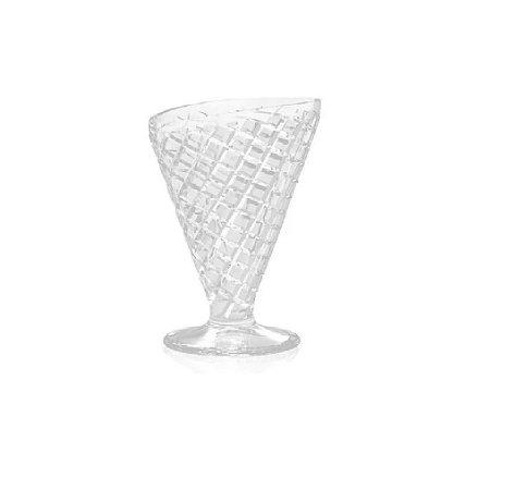 Taça Sorvete Vidro Casquinha 3 Peças 300ML - Wincy