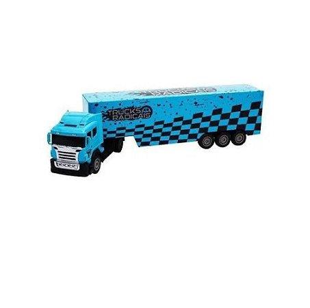 Caminhão c/ Controle Remoto Azul Unik Toys BT2003-2AZ