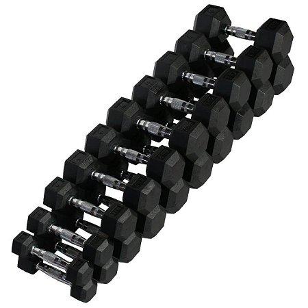 kit de halteres sextavados 1 a 10 kg