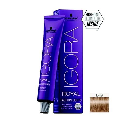 Coloração Igora Royal Fashion Ligths L-49 Bege Violeta 60ml Schwarzkopf