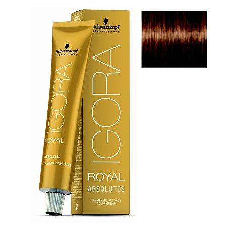 Coloração Igora Royal Absolutes 7-60 Louro Médio Marrom Natural 60ml Schwarzkopf