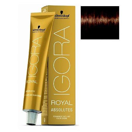 Coloração Igora Royal Absolutes 6-60 Louro Escuro Marrom Natural 60ml Schwarzkopf