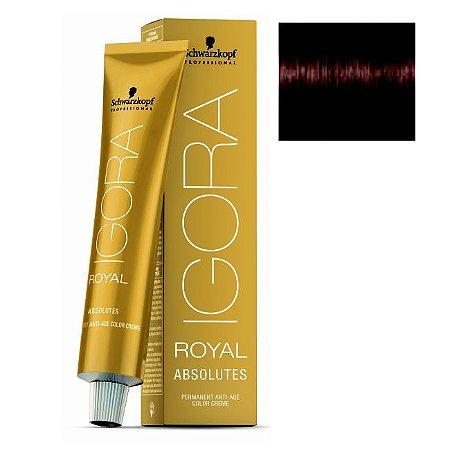 Coloração Igora Royal Absolutes 4-70 Castanho Médio Cobre Natural 60ml Schwarzkopf