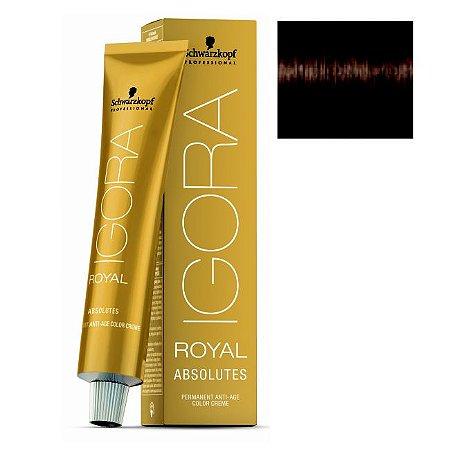 Coloração Igora Royal Absolutes 4-50 Castanho Médio Dourado Natural 60ml Schwarzkopf