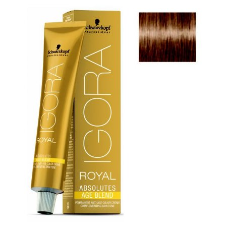 Coloração Igora Royal Absolutes Age Blend 8-07 Louro Claro Natural Cobre 60ml Schwarzkopf