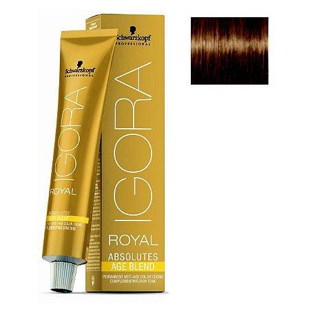 Coloração Igora Royal Absolutes Age Blend 7-450 Louro Médio Bege Dourado 60ml Schwarzkopf