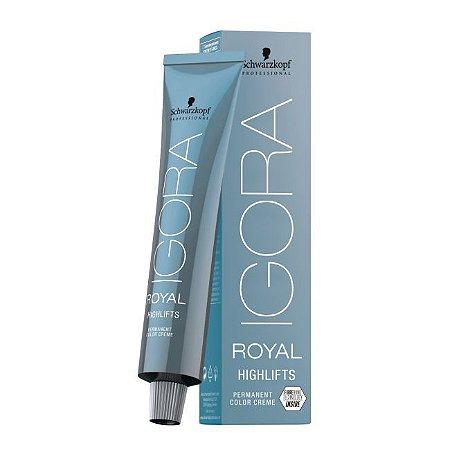 Coloração Igora Royal Highlifts 10-21 Louro Ultra Claro Fumê Cinza 60ml Schwarzkopf