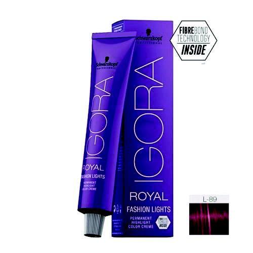 Coloração Igora Royal Fashion Ligths L-89 Vermelho Violeta 60ml Schwarzkopf