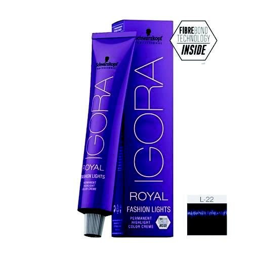 Coloração Igora Royal Fashion Ligths L-22 Fumê 60ml Schwarzkopf