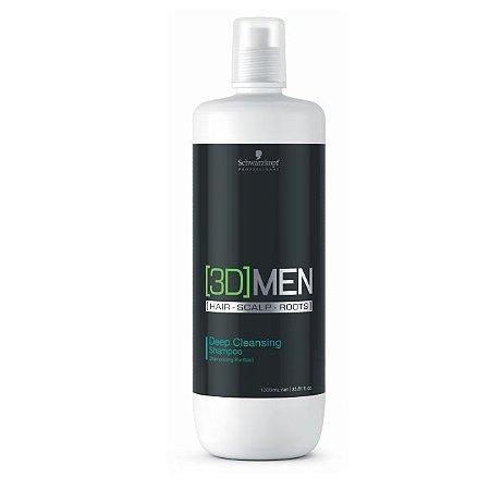 Shampoo - Anti-oleosidade 3DMen Deep Cleansing Schwarzkopf Professional 1L