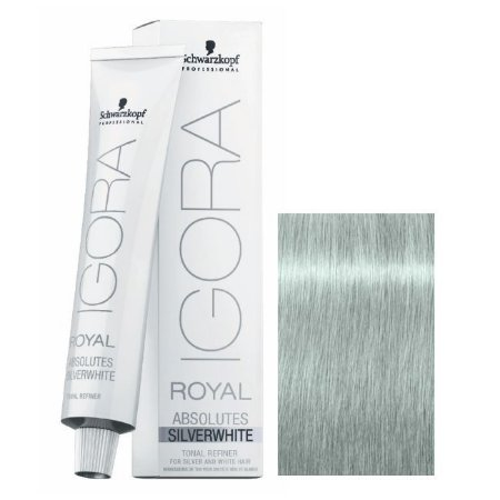 Coloração Igora Royal Absolutes Silverwhite Prata 60ml Schwarzkopf