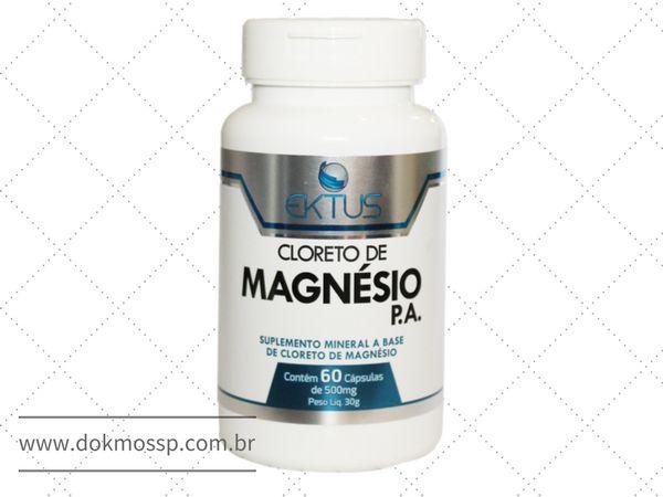 2b06aa74e Cloreto de Magnesio P. A. 60 Capsulas 500mg - Ektus - DOKMOS SP