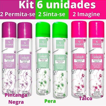 Desodorante Intimo Sedução  Kit 6 unidade  - Sinta-Se, Permita-se, Imagine-se -