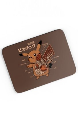 Mouse Pad Pikachu Anatomy  23x20