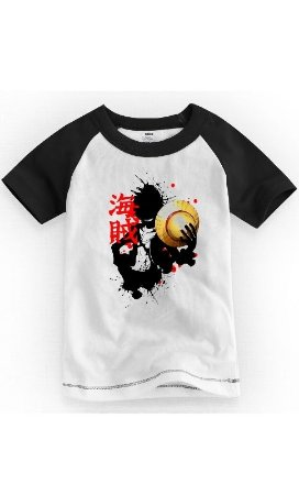 Camiseta Infantil One Piece Luffy