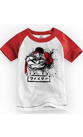 Camiseta Infantil Street Fighter Defense 1