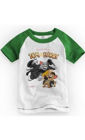 Camiseta Infantil Tom e Jarry 1