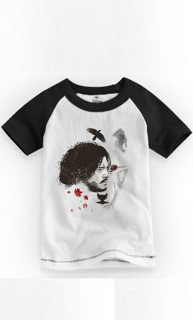 Camiseta Infantil Game Of Thrones Snow