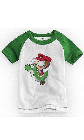 Camiseta Infantil Mario and Yoshi