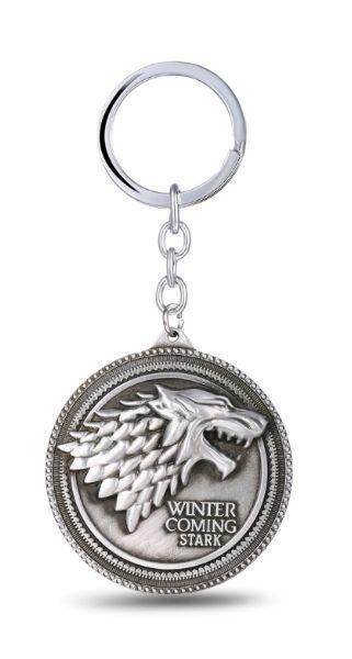 Chaveiro Game of Thrones Escudo Moeda de Metal Presentes Criativos